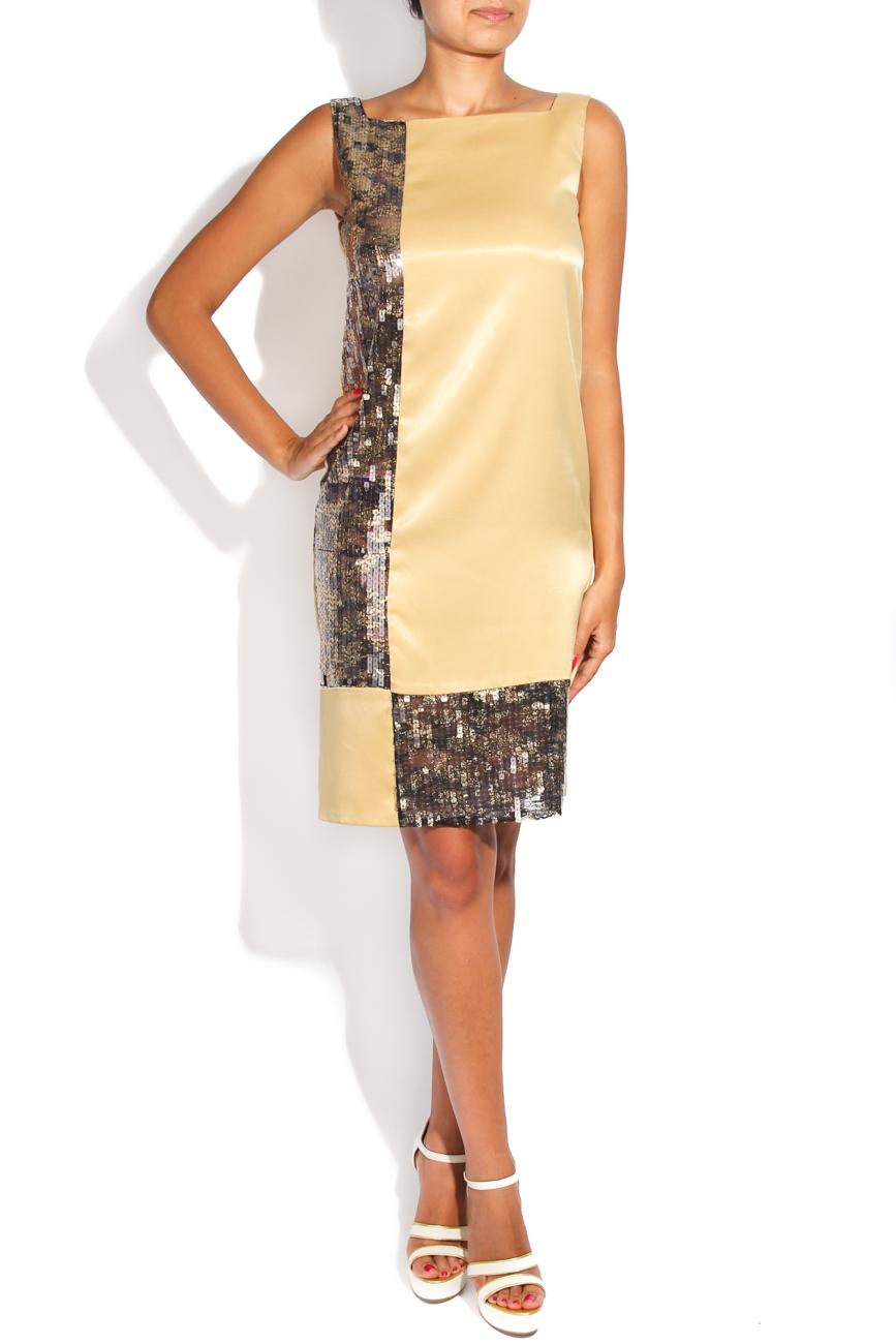 Golden geometric dress Adriana Agostini  image 0