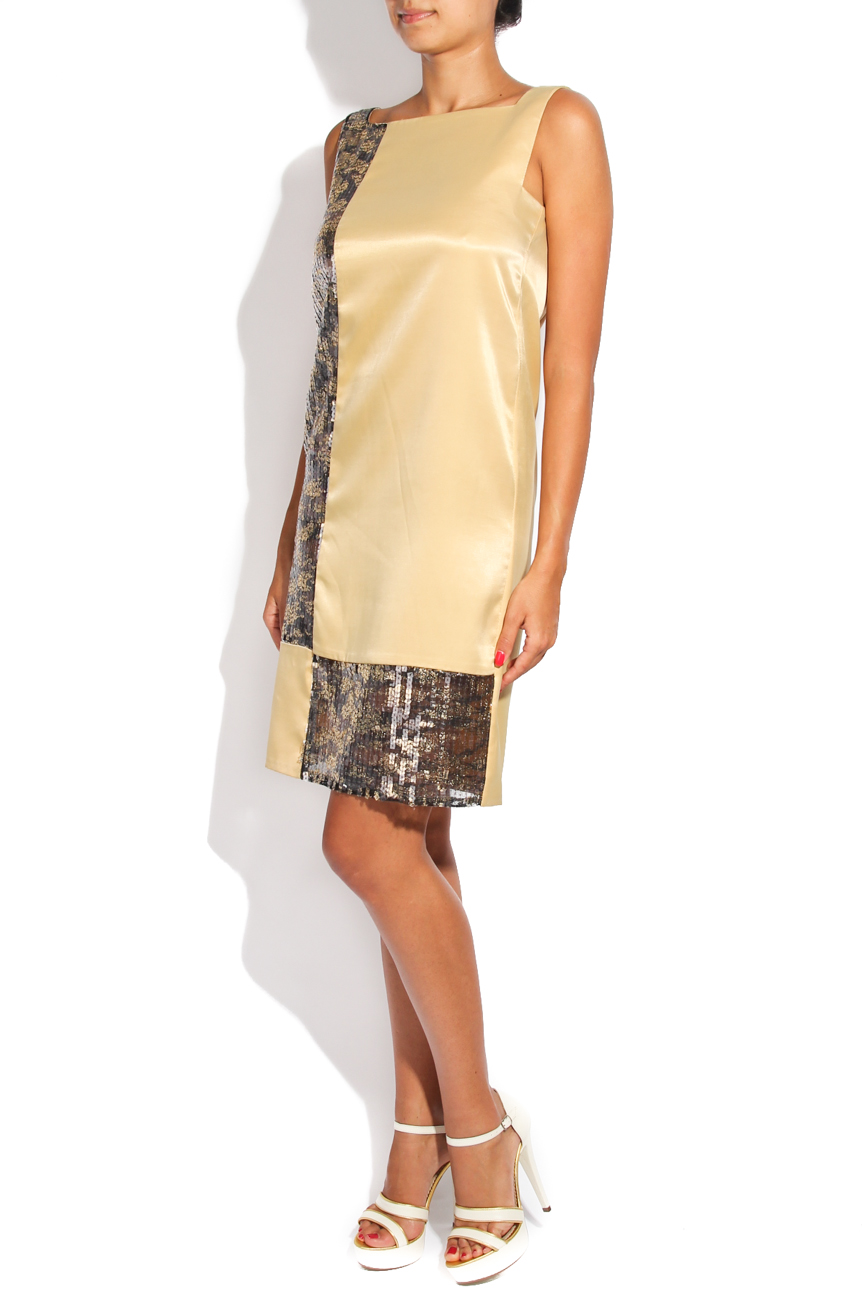 Golden geometric dress Adriana Agostini  image 1
