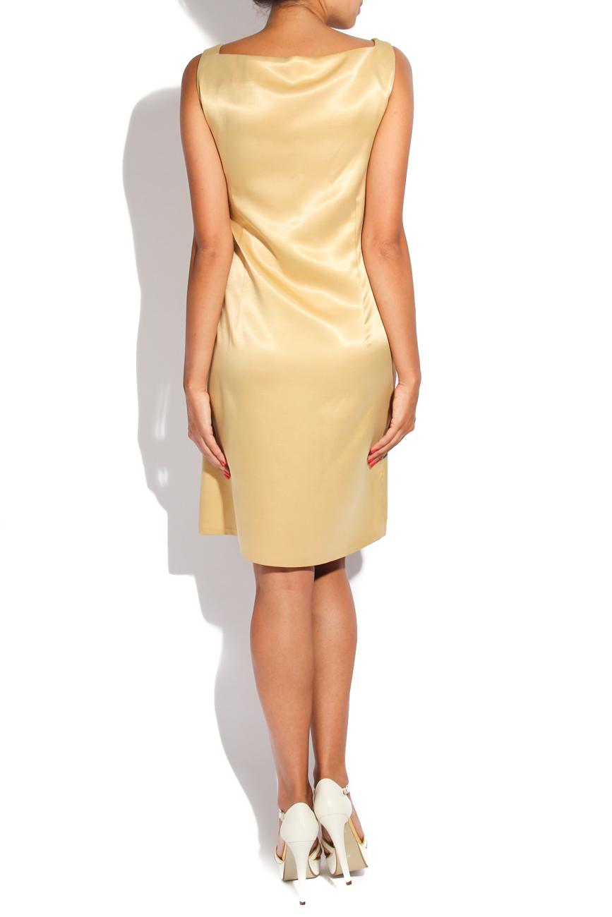 Golden geometric dress Adriana Agostini  image 2