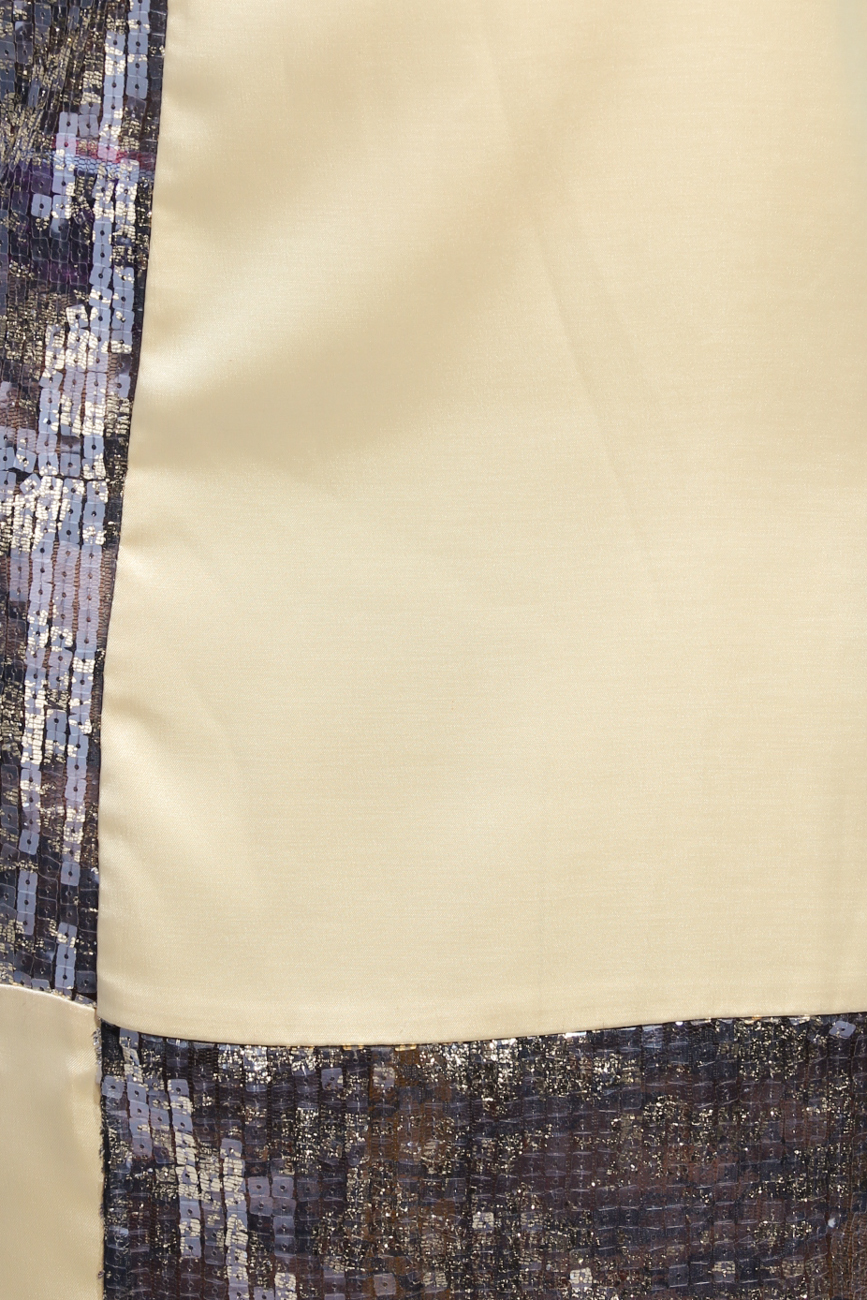 Golden geometric dress Adriana Agostini  image 3