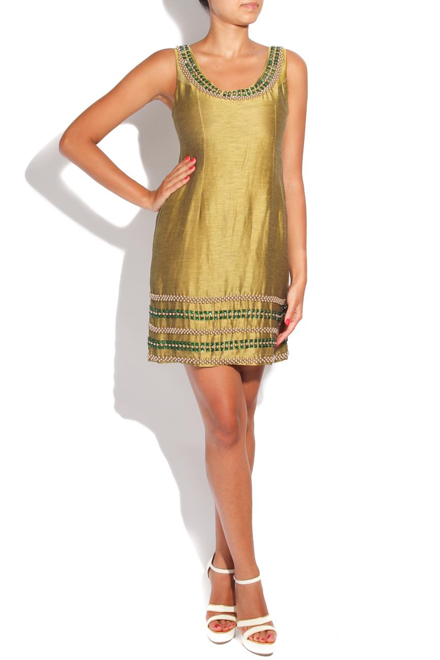 Silk dress with decorations Adriana Agostini  image 0