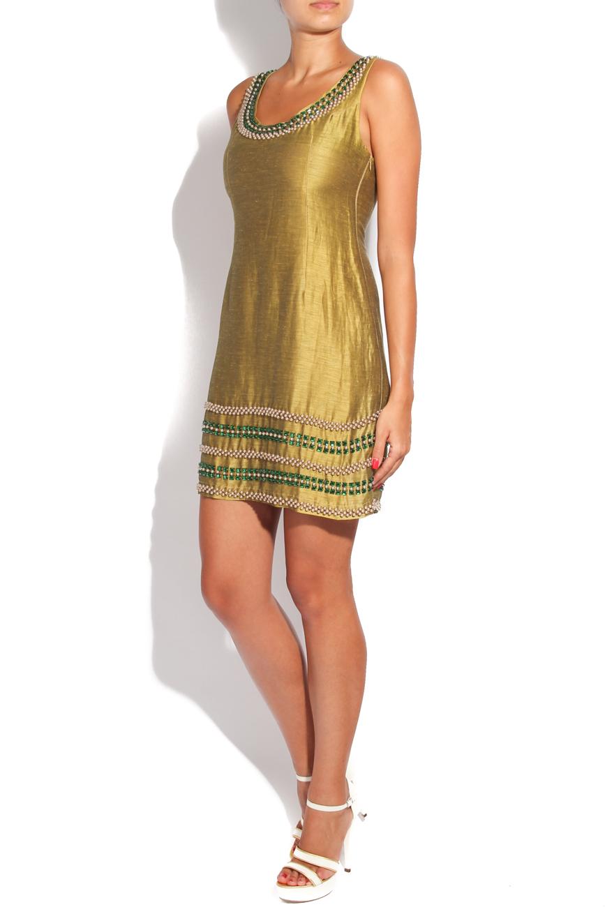 Silk dress with decorations Adriana Agostini  image 1