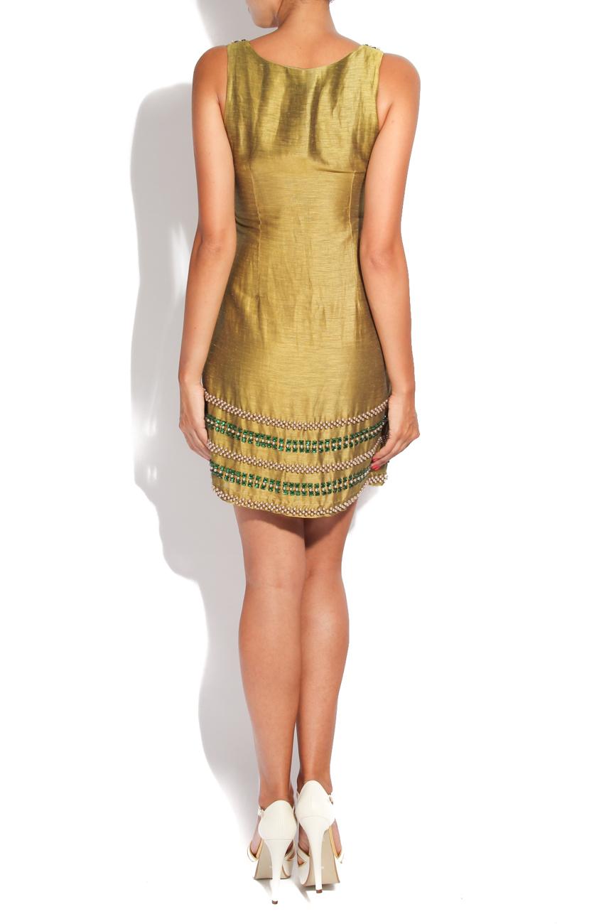 Silk dress with decorations Adriana Agostini  image 2