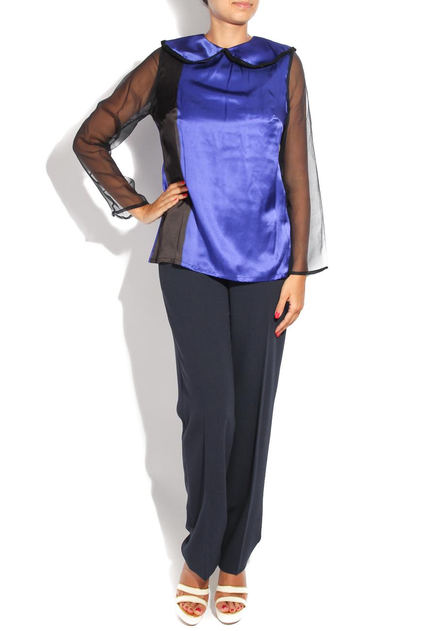 ,,Peter Pan'' blouse with collar Diana Bobar image 0