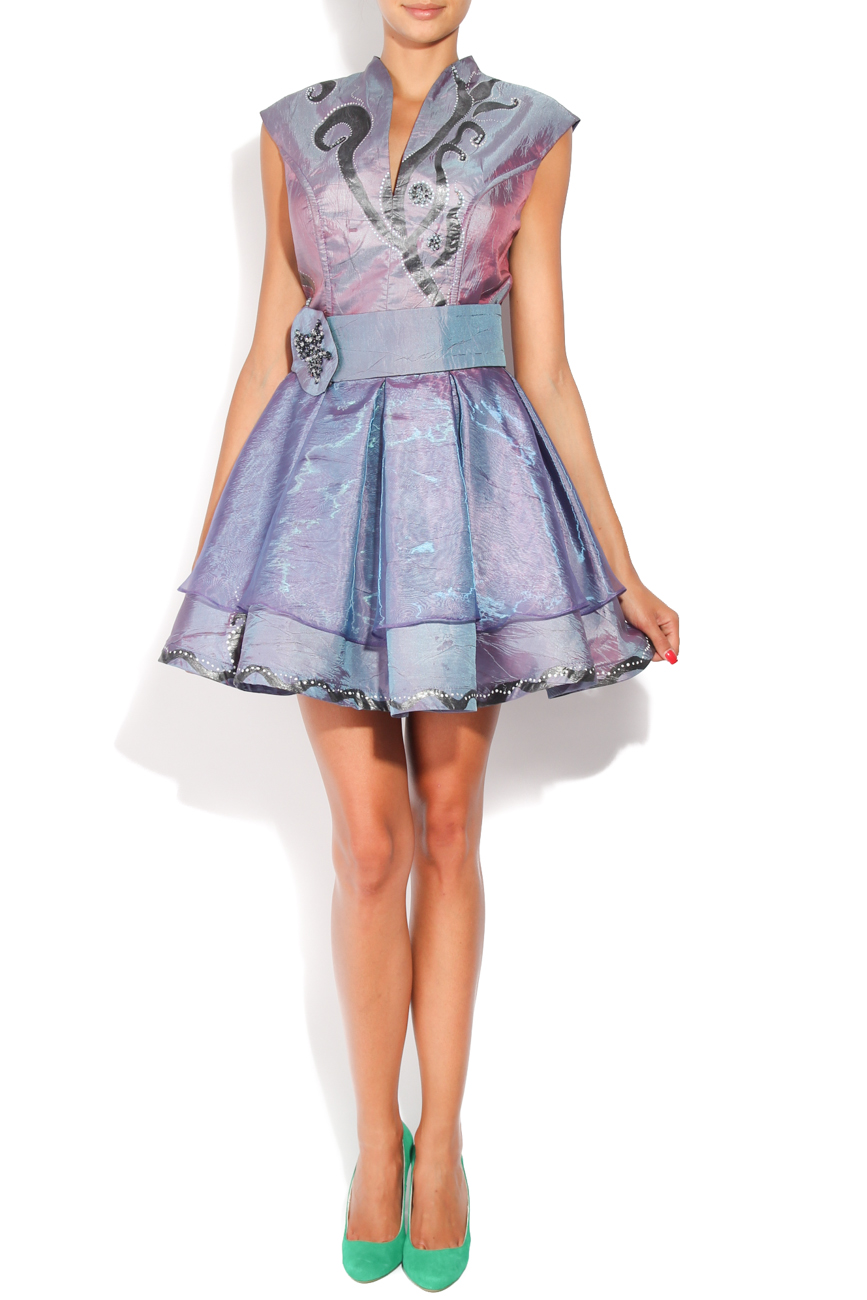 Lila painted dress Adriana Agostini  image 0