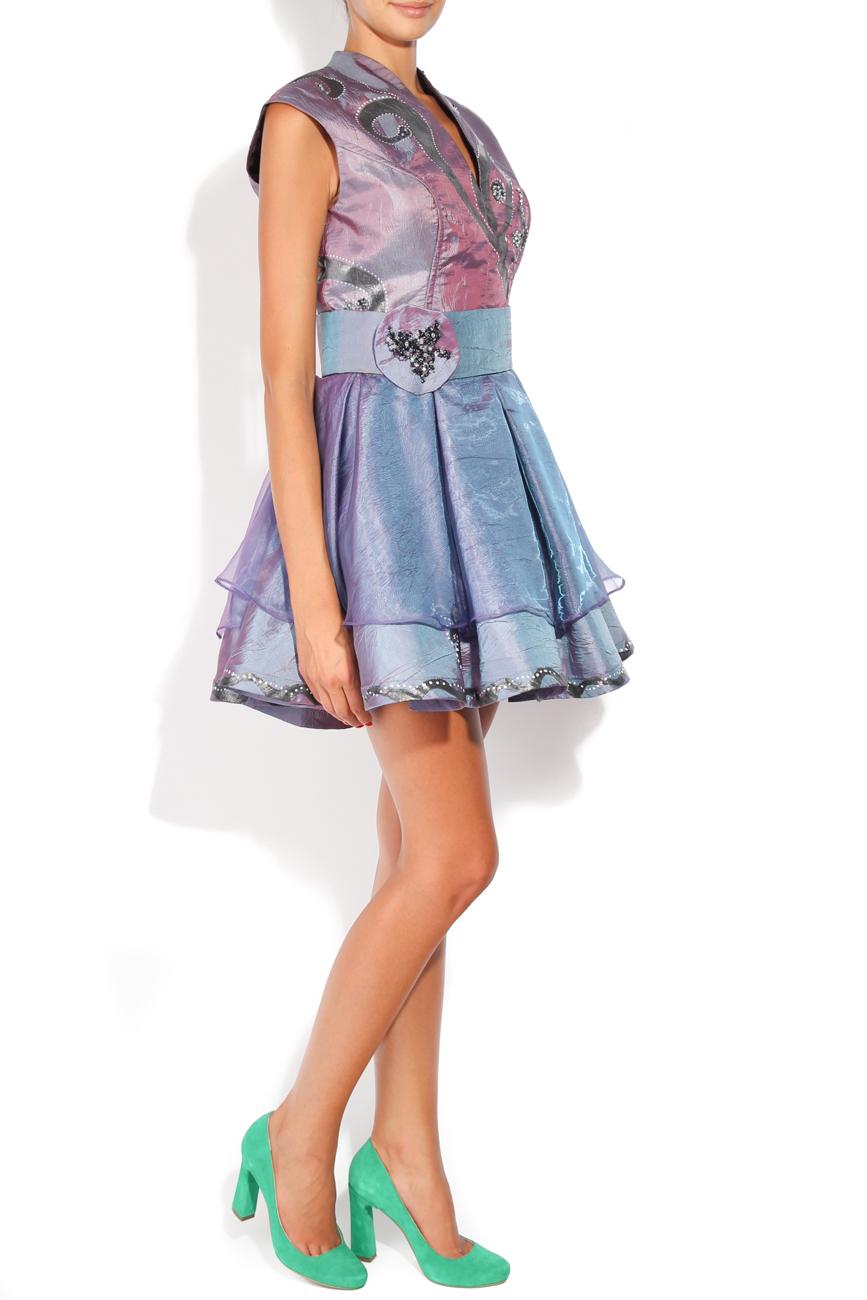 Lila painted dress Adriana Agostini  image 1