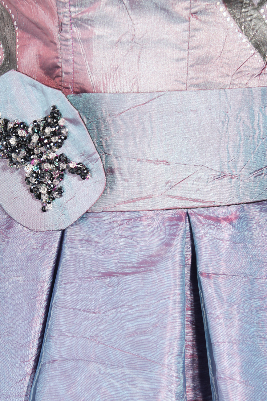 Lila painted dress Adriana Agostini  image 3