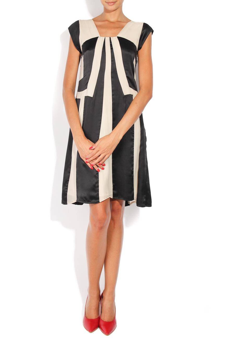 Black and ivoire dress Adriana Agostini  image 0