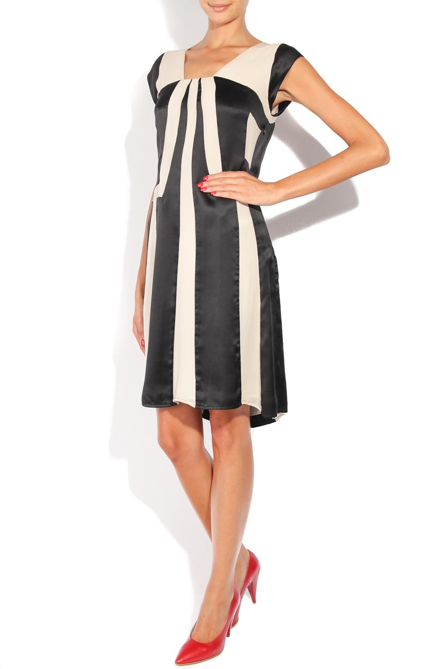 Black and ivoire dress Adriana Agostini  image 1