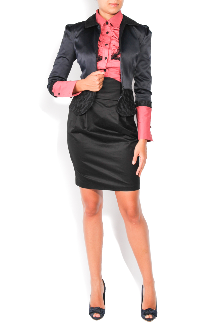 Navy and black jacket T'esha by Diana Tatucu image 0