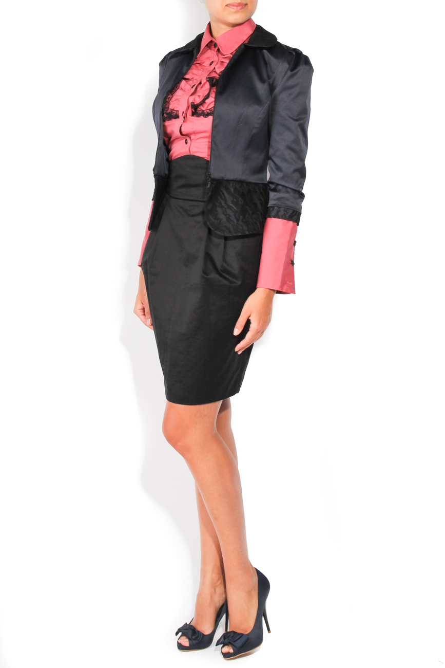 Navy and black jacket T'esha by Diana Tatucu image 1