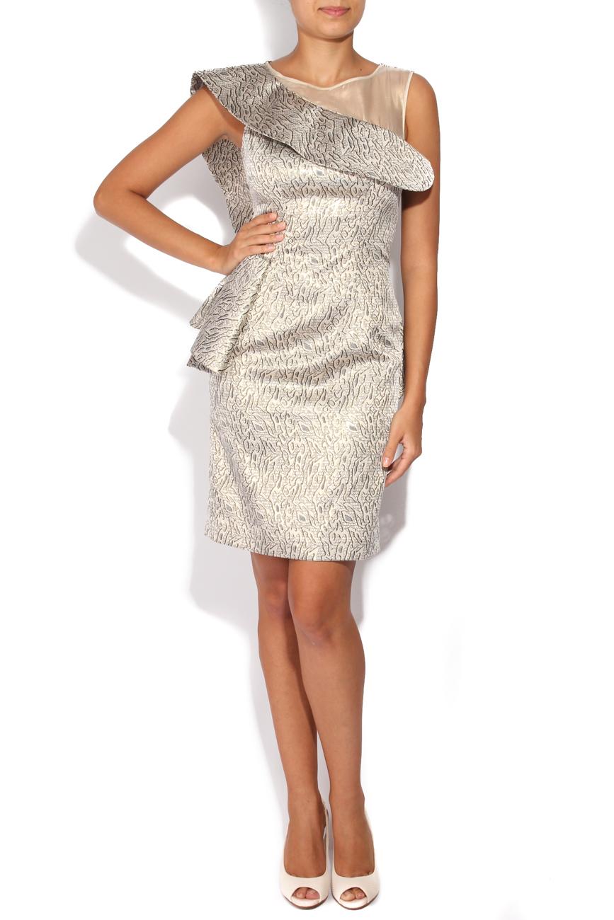 Silver brocade dress Carmen Ormenisan image 0