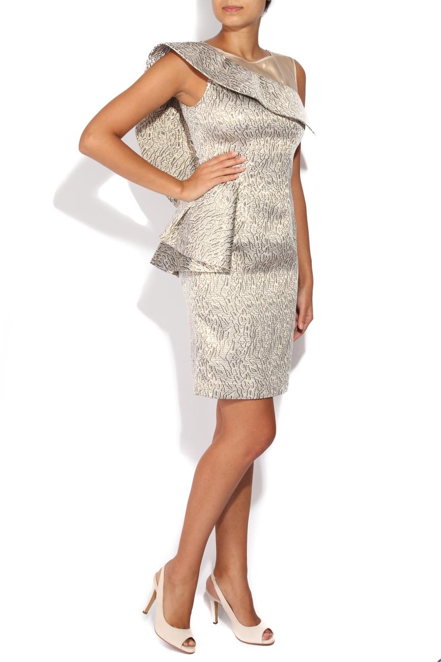 Silver brocade dress Carmen Ormenisan image 1