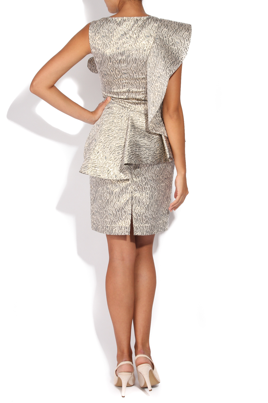 Silver brocade dress Carmen Ormenisan image 2
