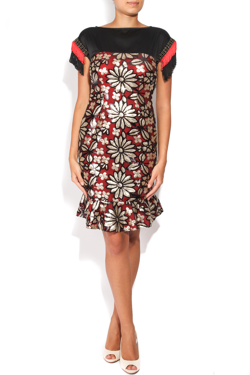 Dress with sequined flowers Carmen Ormenisan image 0