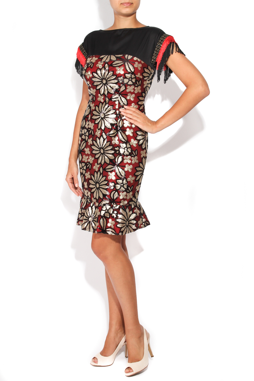 Dress with sequined flowers Carmen Ormenisan image 1