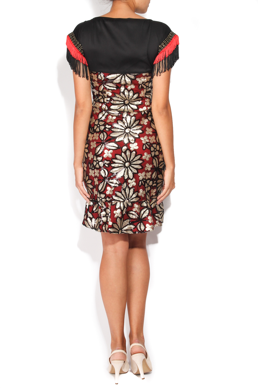 Dress with sequined flowers Carmen Ormenisan image 2