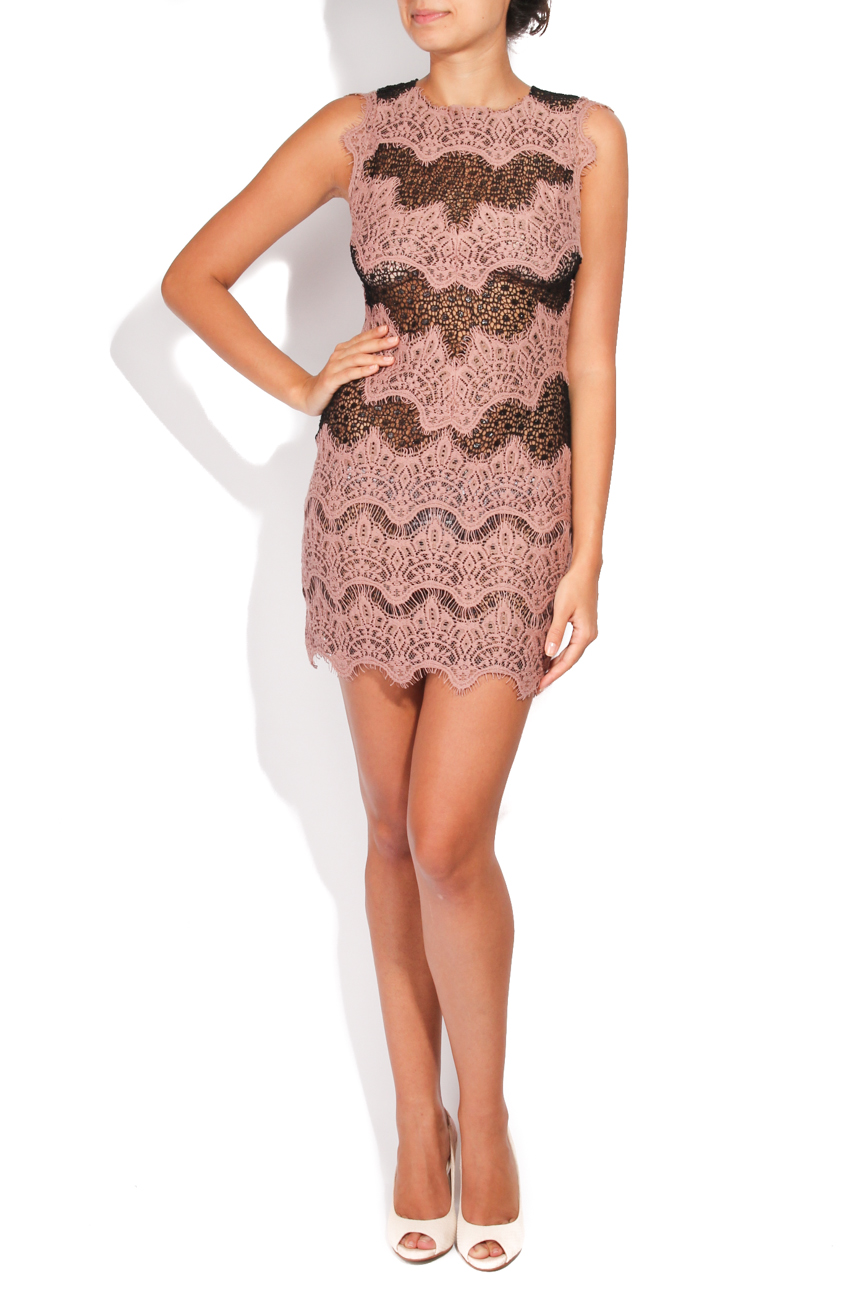 Dusty pink and black short dress Carmen Ormenisan image 0