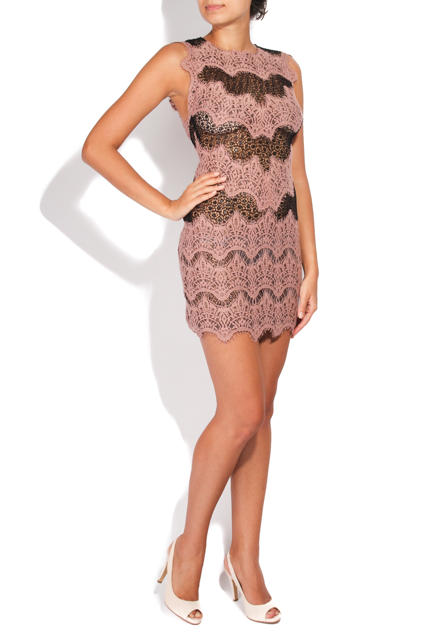 Dusty pink and black short dress Carmen Ormenisan image 1