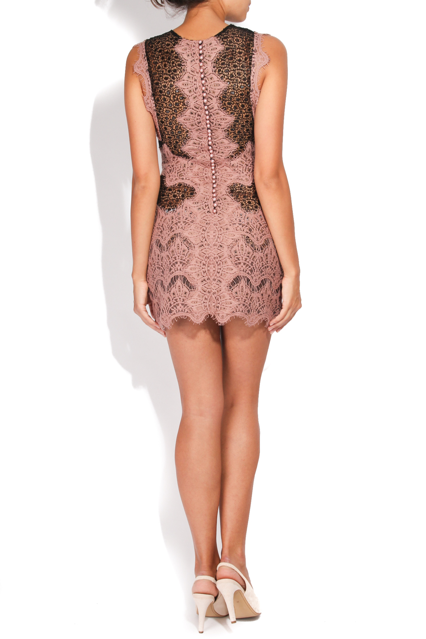 Dusty pink and black short dress Carmen Ormenisan image 2