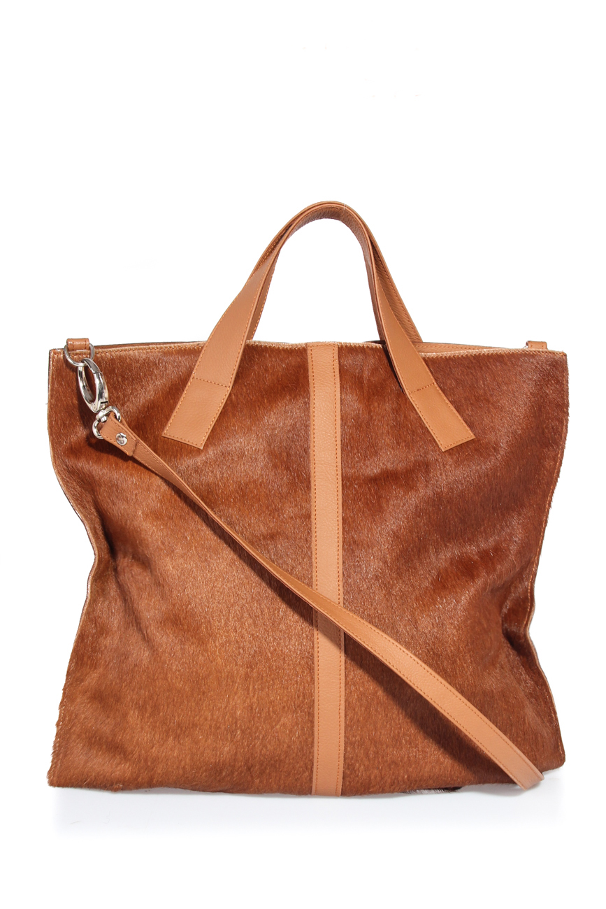 Brown pony bag Giuka by Nicolaescu Georgiana  image 1