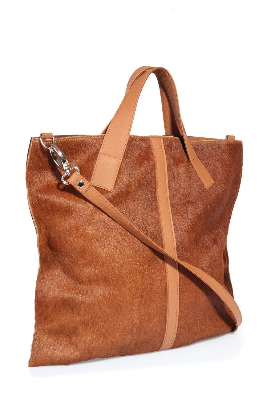 Brown pony bag Giuka by Nicolaescu Georgiana  image 0