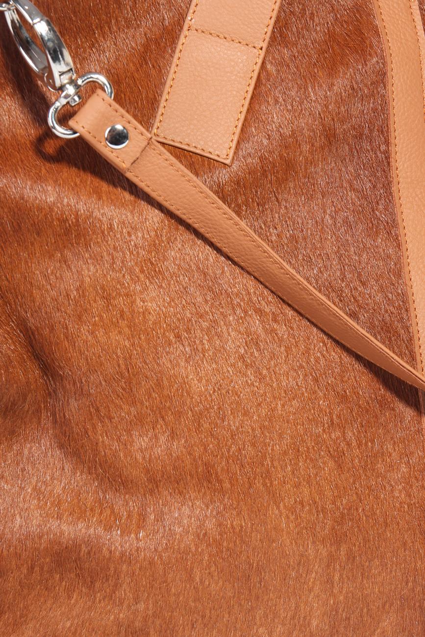 Brown pony bag Giuka by Nicolaescu Georgiana  image 2