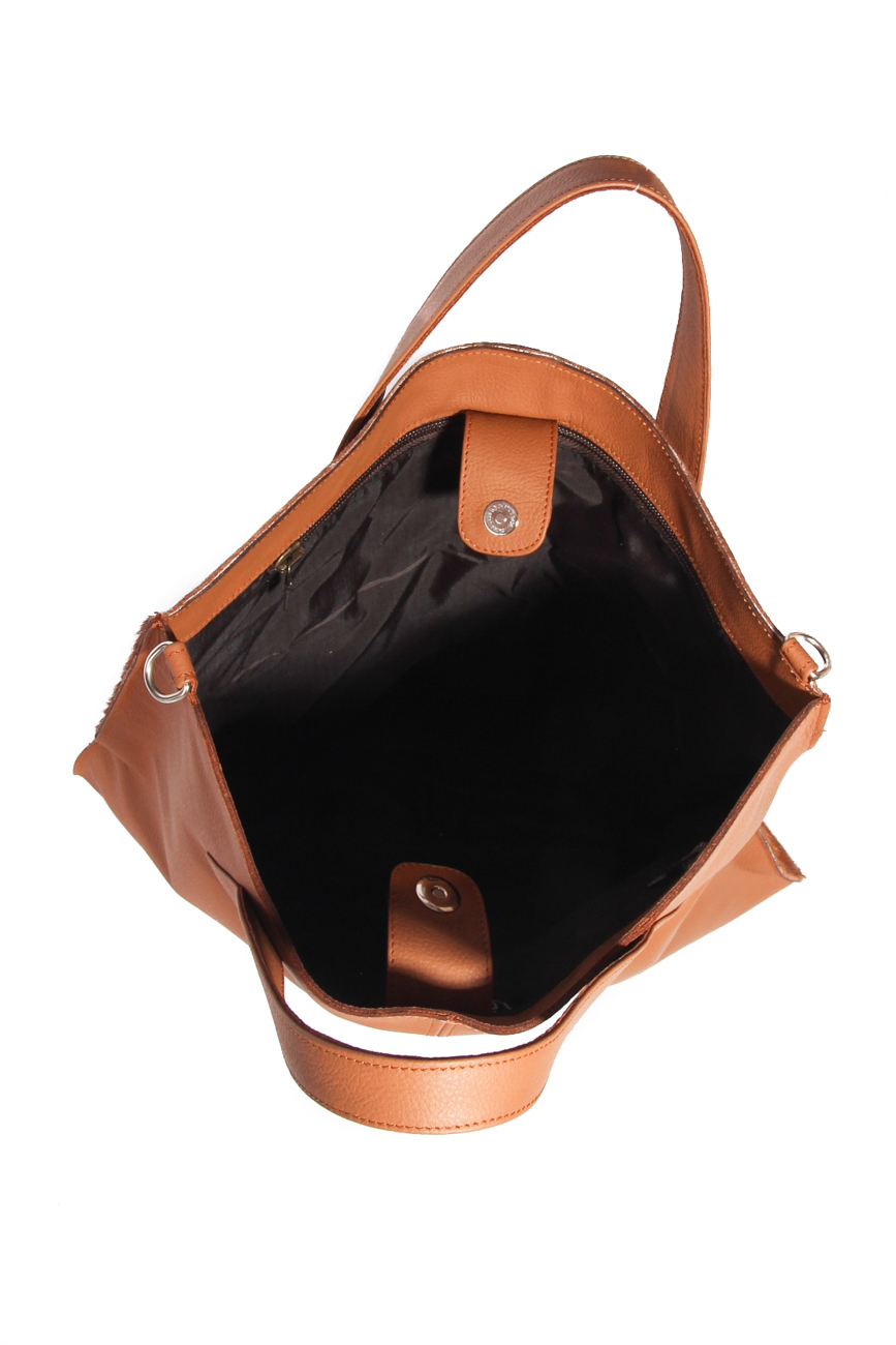 Brown pony bag Giuka by Nicolaescu Georgiana  image 4