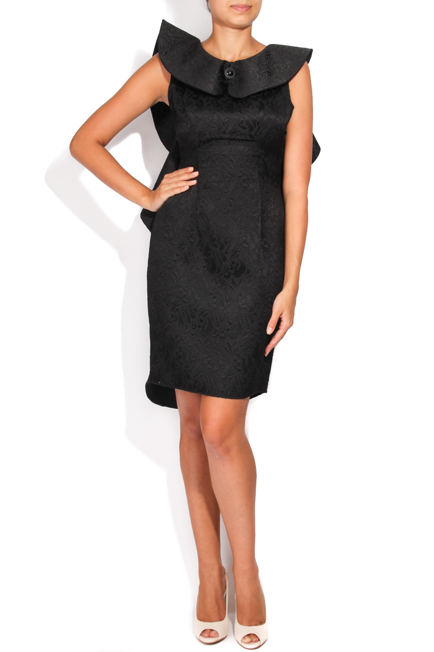 Brocade dress with applied ruffle Carmen Ormenisan image 0