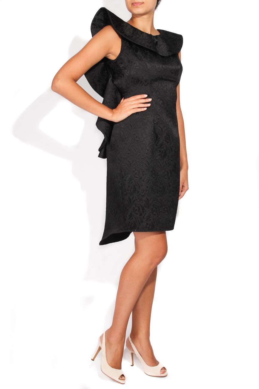 Brocade dress with applied ruffle Carmen Ormenisan image 1