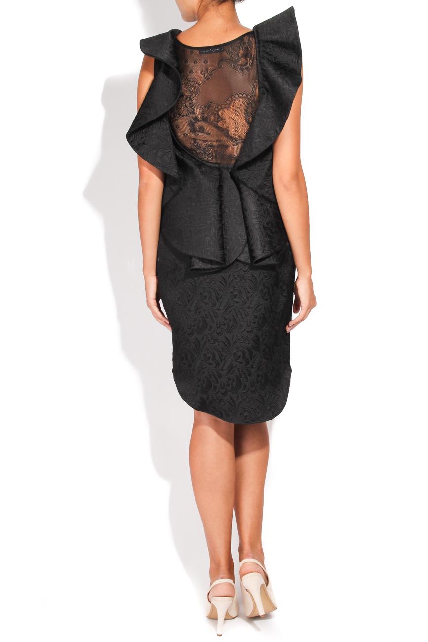 Brocade dress with applied ruffle Carmen Ormenisan image 2