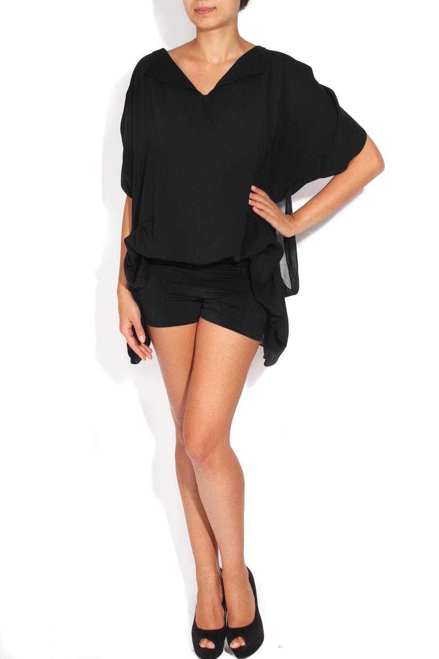 Black veil blouse Karmen Herscovici image 0