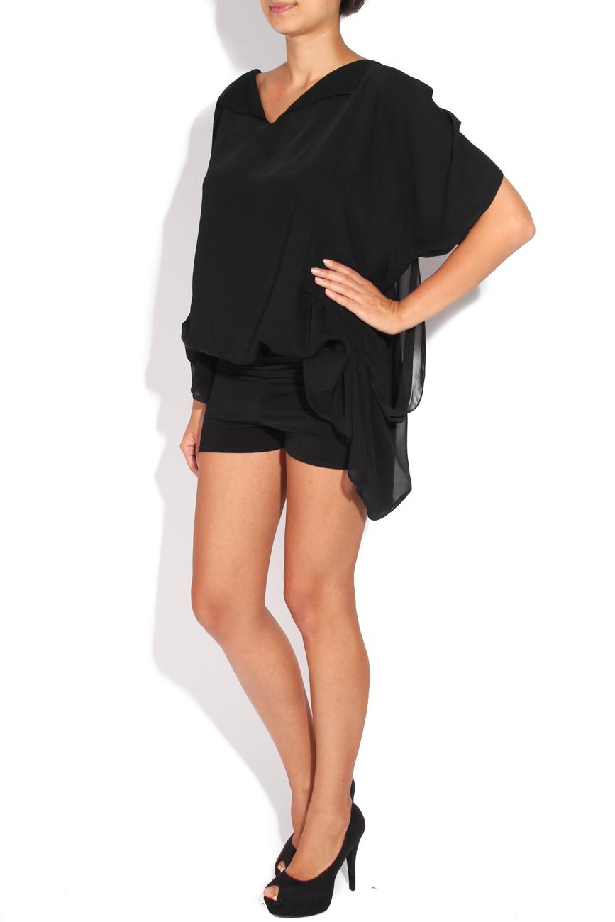 Black veil blouse Karmen Herscovici image 1
