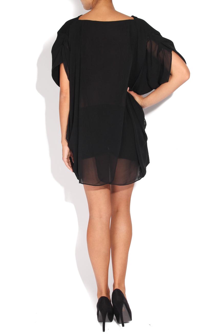 Black veil blouse Karmen Herscovici image 2
