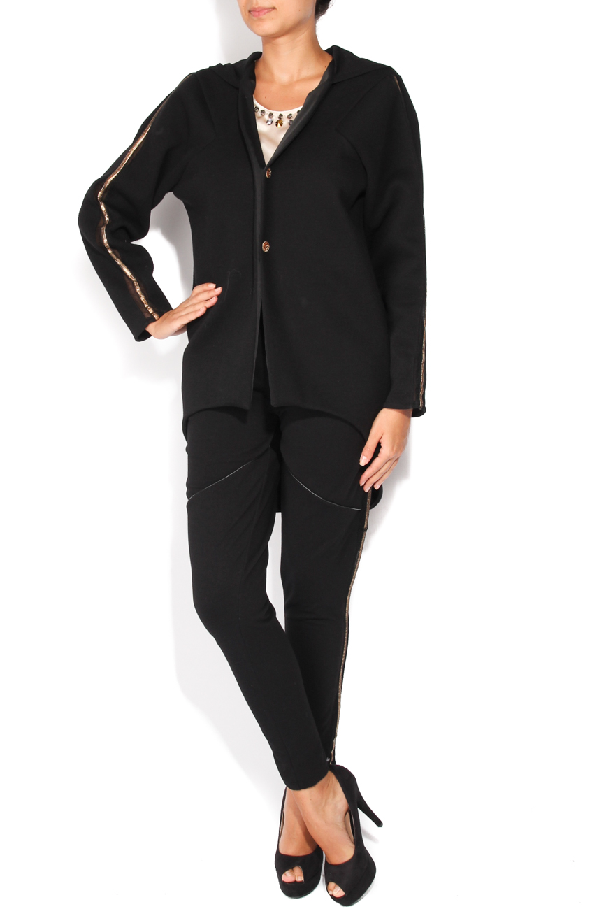 Black coat with hood Elena Perseil image 0