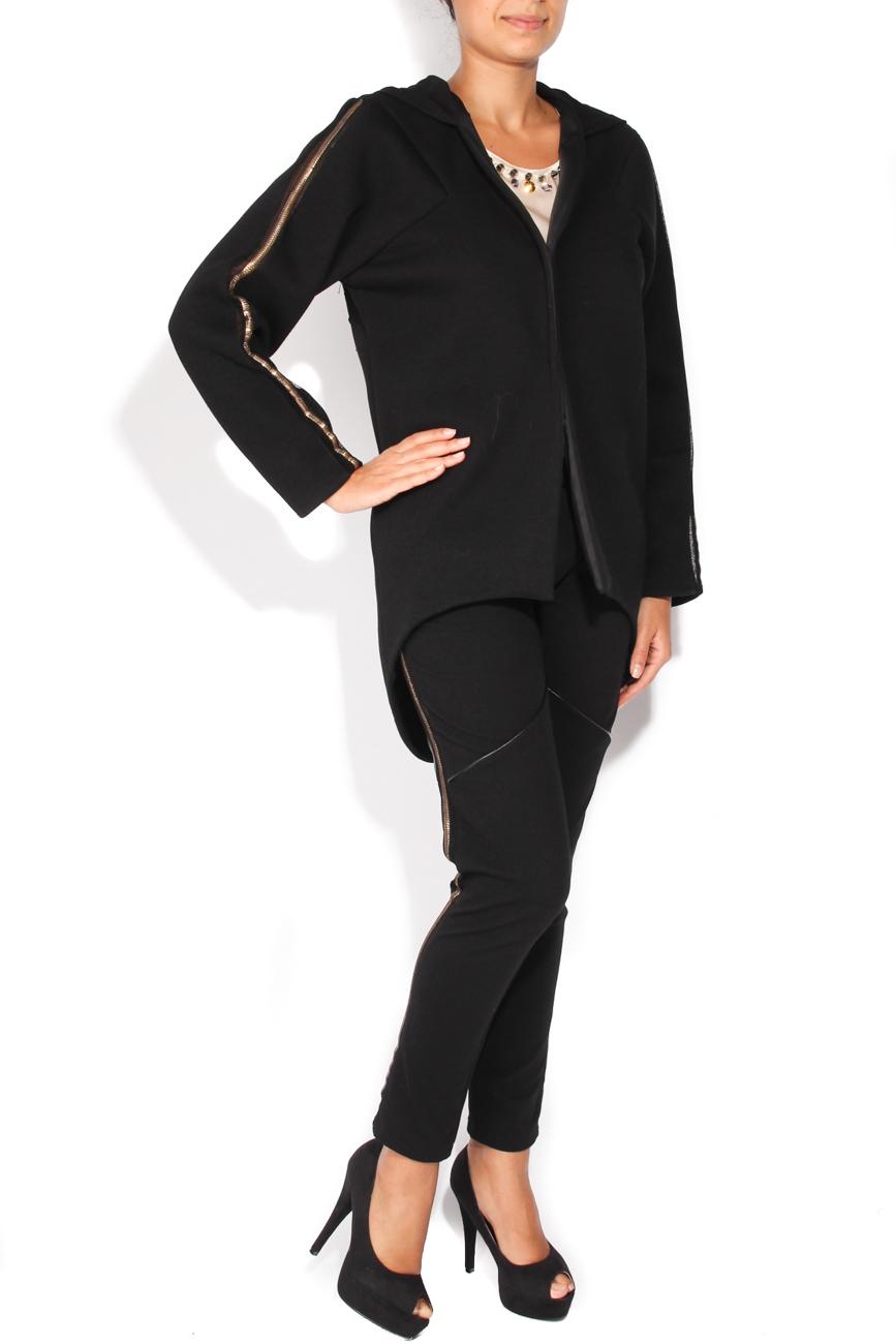 Black coat with hood Elena Perseil image 1