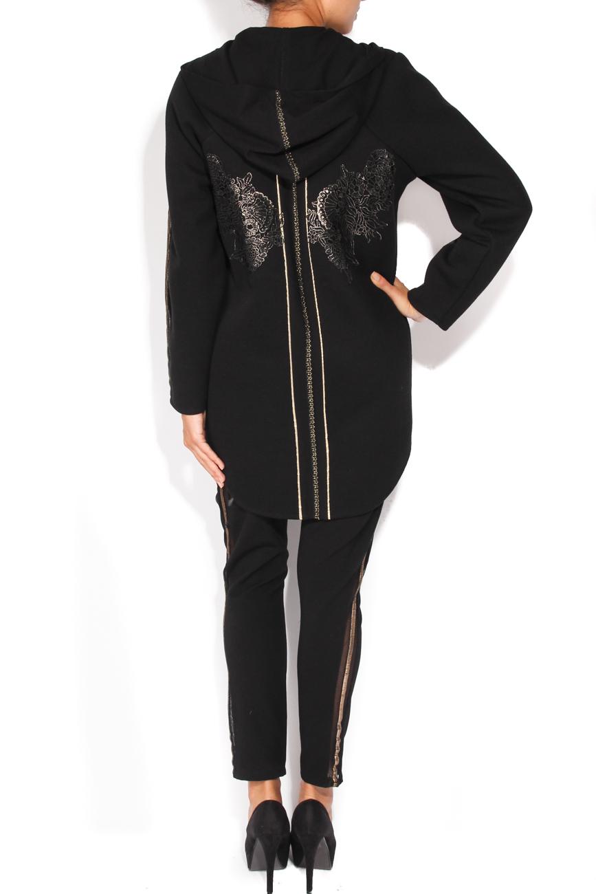 Black coat with hood Elena Perseil image 2