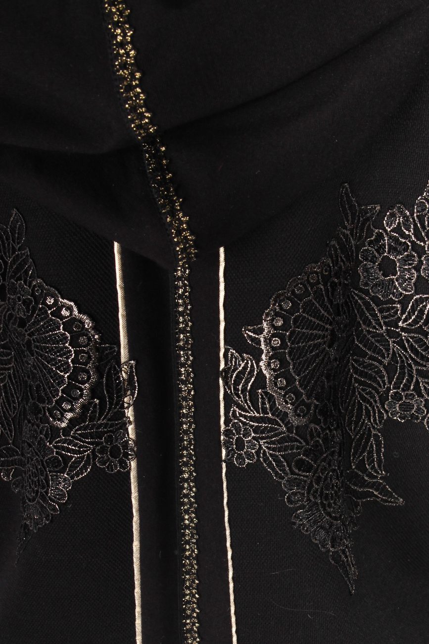 Black coat with hood Elena Perseil image 3