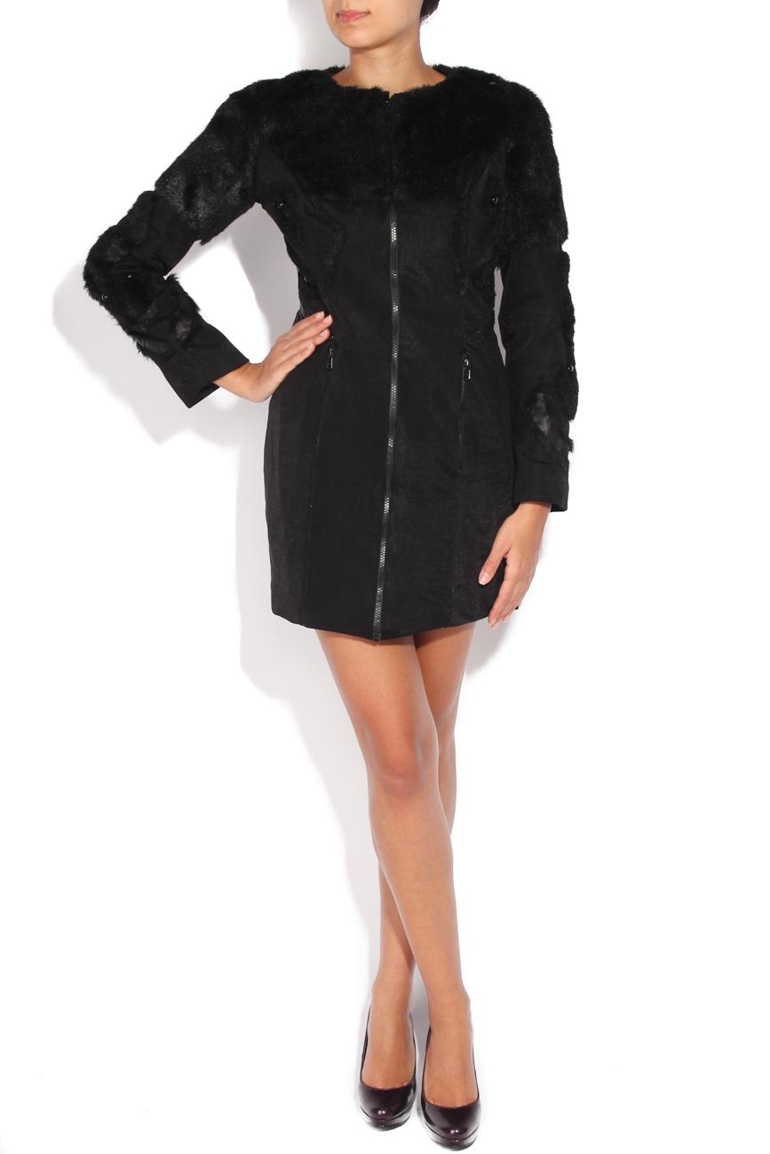 Black coat of fur and beads applications Loredana Novotni image 2