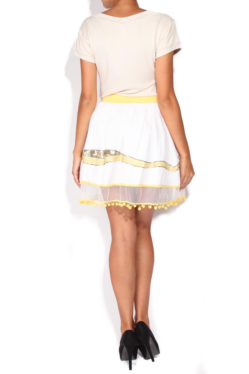 Skirt with crane Elena Perseil image 2