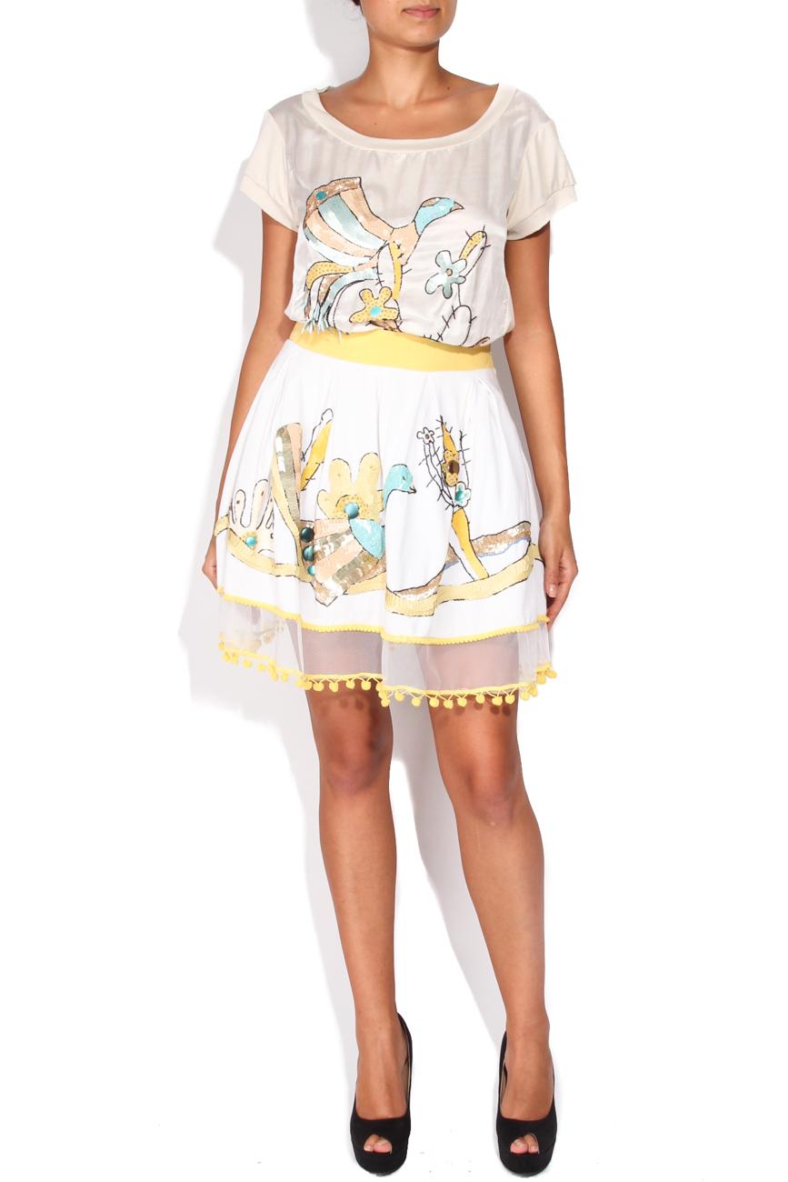 Skirt with crane Elena Perseil image 0