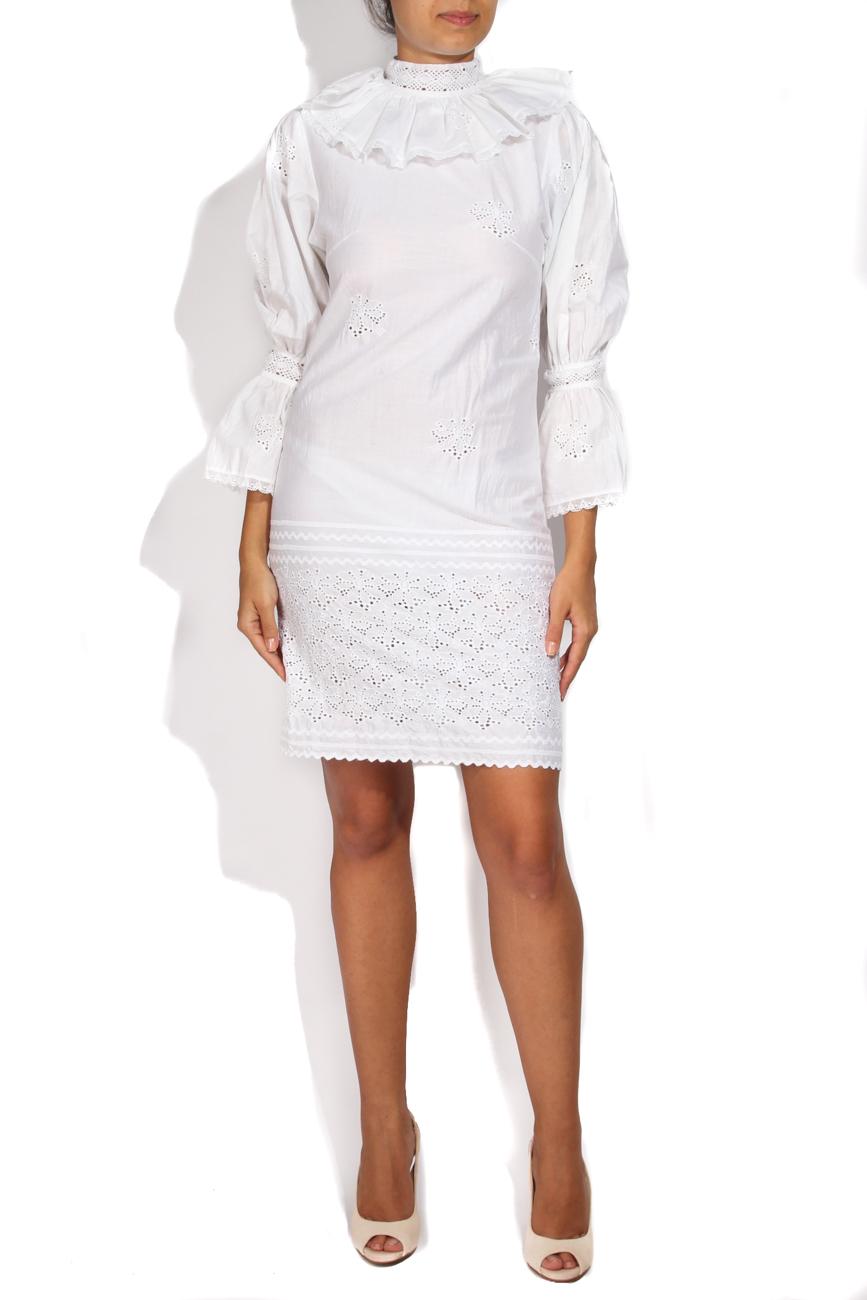 White dress wih collar Dorin Negrau image 0