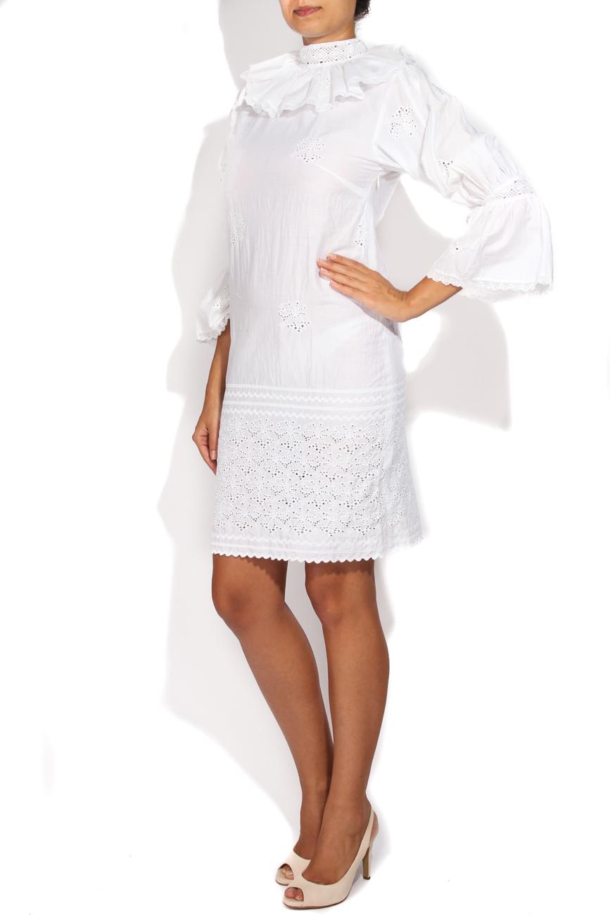 White dress wih collar Dorin Negrau image 1