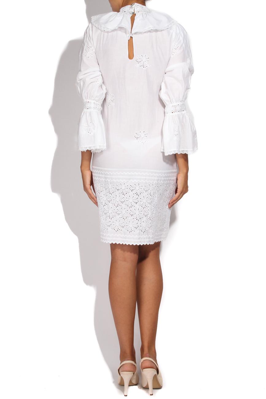 White dress wih collar Dorin Negrau image 2