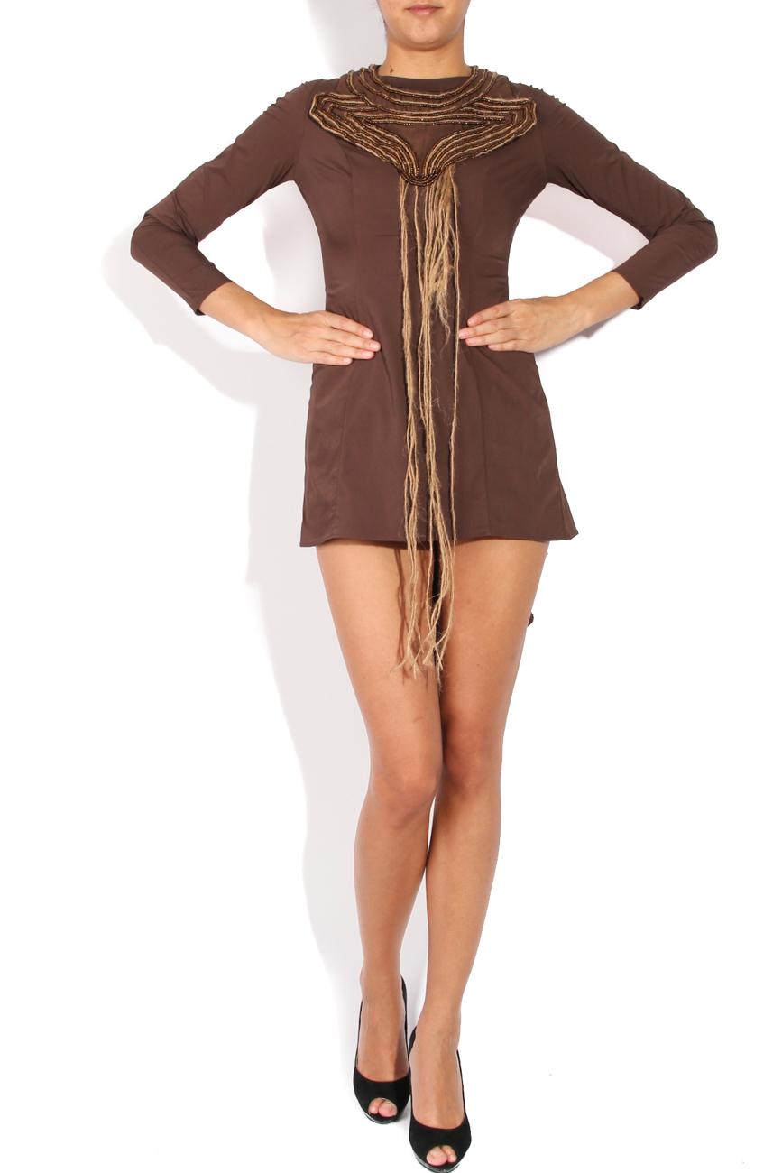 Asymmetrical dress with sleeves Loredana Novotni image 0