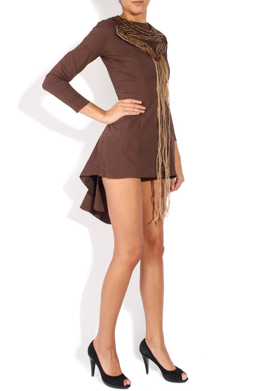 Asymmetrical dress with sleeves Loredana Novotni image 1