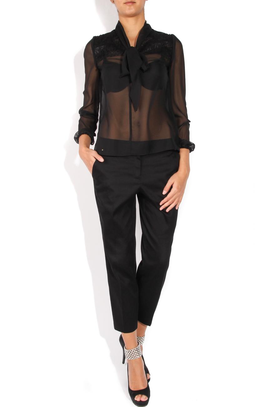 Black shirt with scarf-type collar  Cristina Staicu image 0