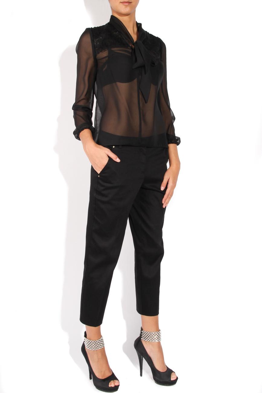 Black shirt with scarf-type collar  Cristina Staicu image 1