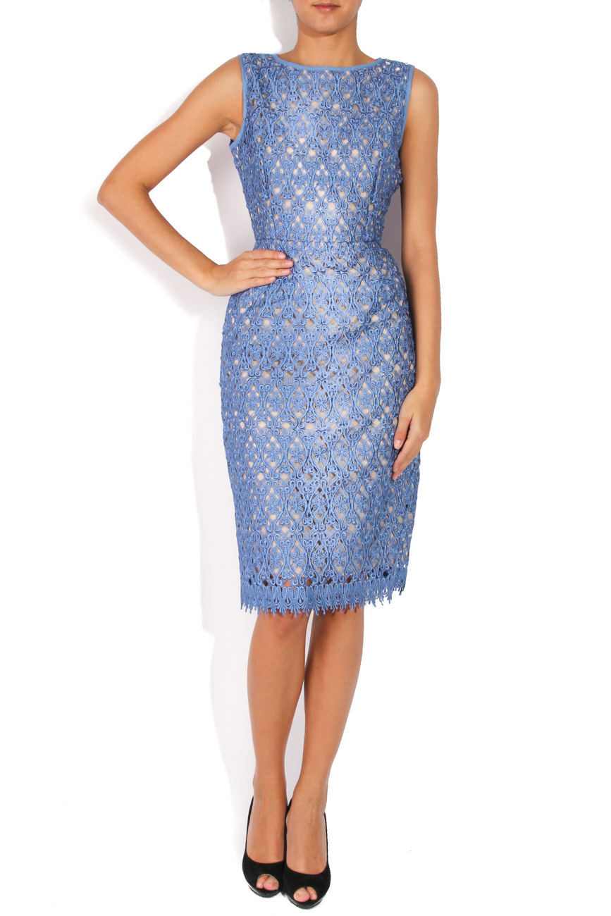 Robe en dentelle bleue Cristina Staicu image 0