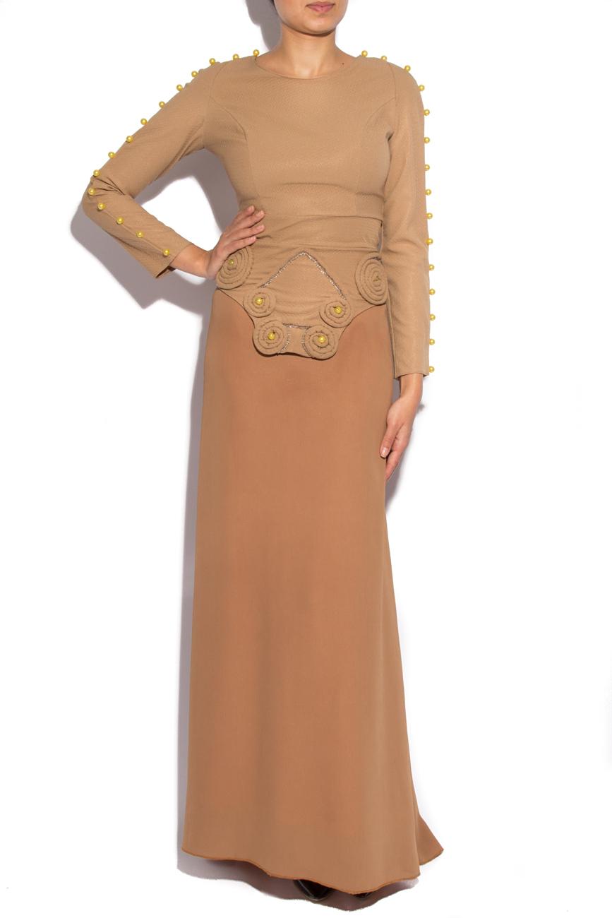 Dress with train and long sleeves Loredana Novotni image 0